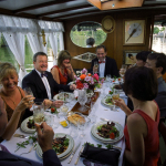 Dinner Guests on Board a Steam Launch